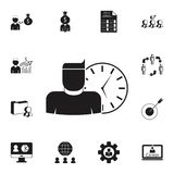 Work time icon. Detailed set of HR & Heat hunting icons. Premium quality graphic design sign. One of the collection icons for webs. Work time icon. Detailed set Stock Photo