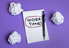 Work time word Stock Photo