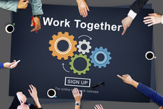 Work Together Teamwork Collaboration Union Unity Concept Royalty Free Stock Photography