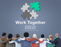 Work Together Teamwork Collaboration Union Unity Concept Stock Images