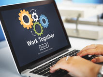 Work Together Teamwork Collaboration Union Unity Concept Royalty Free Stock Photos