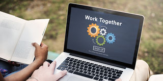 Work Together Teamwork Collaboration Union Unity Concept. People Work Together Teamwork Collaboration Unity Stock Images