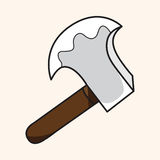 Work tool axe theme elements vector,eps. Vector illustration file Royalty Free Stock Photography