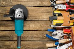 Work Tool. Craftsperson Mechanic Repairman Belt Tool Belt Carpentry royalty free stock photography