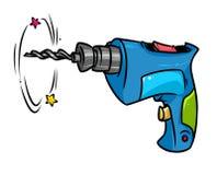 Work tool Drill cartoon illustration Royalty Free Stock Image