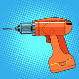 Work tool drill screwdriver Royalty Free Stock Images