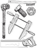 Work tool sketches Stock Image