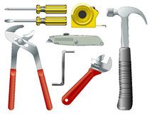 Work tools. Color illustration of work tools Royalty Free Stock Images