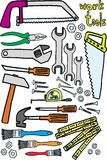 Work tools. On white background. vector image Royalty Free Stock Image