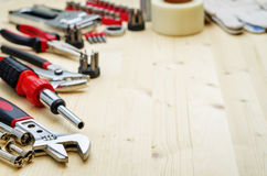 Work tools background Royalty Free Stock Photos