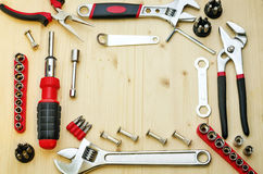 Work tools background Royalty Free Stock Image