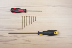 Work tools. Basic work tools for every home Stock Photo