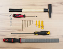 Work tools. Basic work tools for every home Royalty Free Stock Photos