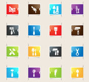 Work Tools Bookmark Icons Royalty Free Stock Photos