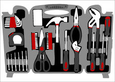 Work tools box Stock Images