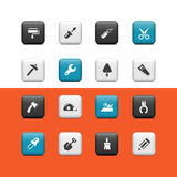 Work tools buttons Royalty Free Stock Photo