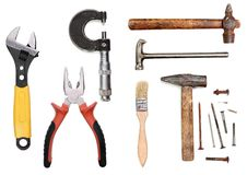 Work tools collection Royalty Free Stock Image