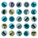 Work tools collection, carpentry and industry tools Stock Image
