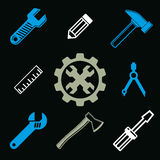 Work tools collection, vector repair instruments for carpentry Royalty Free Stock Photos