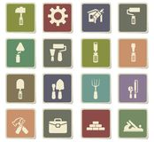 Work tools icon set. Work tools  icons for user interface design Stock Photos