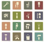 Work tools icon set. Work tools  icons for user interface design Royalty Free Stock Images