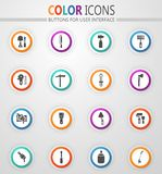 Work tools icons set. Work tools icon set for web sites and user interface royalty free illustration