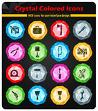 Work tools icons set. Work tools icon set for web sites and user interface Stock Image