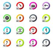 Work tools icons set. Work tools web icons for user interface design stock illustration