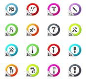 Work tools icons set. Work tools web icons for user interface design Royalty Free Stock Image