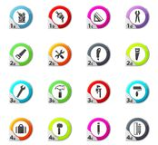 Work tools icons set. Work tools web icons for user interface design Royalty Free Stock Photography