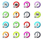 Work tools icons set. Work tools web icons for user interface design Royalty Free Stock Photo