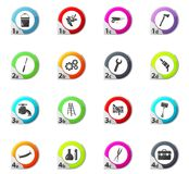 Work tools icons set. Work tools web icons for user interface design Stock Image