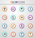 Work tools icons set. Work tools icon set for web sites and user interface stock illustration
