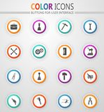 Work tools icons set. Work tools icon set for web sites and user interface vector illustration