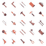 Work tools icons or symbols Royalty Free Stock Photo