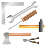 Work tools isolated Royalty Free Stock Image