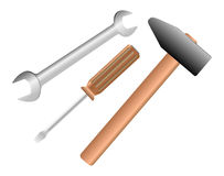 Work tools isolated Stock Photos