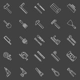 Work tools line icons Stock Photos