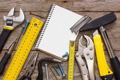 Work tools and notebook Royalty Free Stock Images