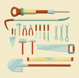 Work tools set. Set of hand tools. EPS10 vector image, simple graphic Stock Photography