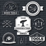 Work tools set label template of emblem element for your product or design, web and mobile applications with text Royalty Free Stock Photography