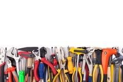 Work tools on white background. royalty free stock photo