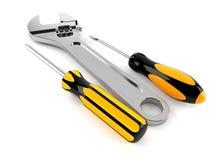 Work tools. On white background Royalty Free Stock Photos
