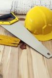 Work tools on wood Stock Image
