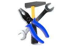 Work tools. Isolated on white background Royalty Free Stock Images