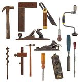 Many hand tools. Work tools you may find in a wood works toolbox Royalty Free Stock Photos