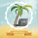 Work and travel illustration Stock Photos