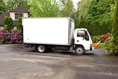 Work truck in driveway Stock Image