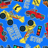 Work trucks and tractors Stock Photography