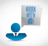 Work with us avatar message illustration design Royalty Free Stock Photos